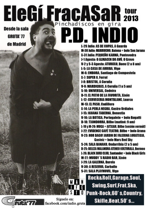 P.D. Indio (Rock & Roll, Garage, Soul, Swing, Surf... / Madrid)